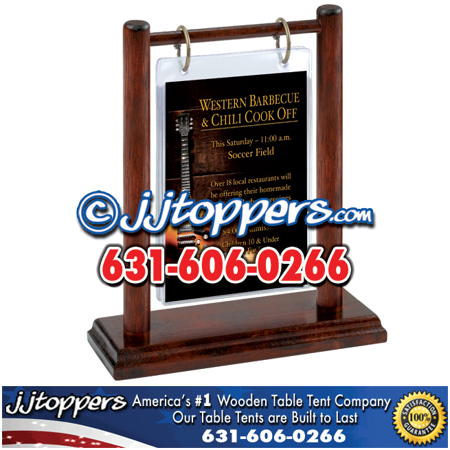 Wooden Table Tents By JJTopperscom - Wooden table tents